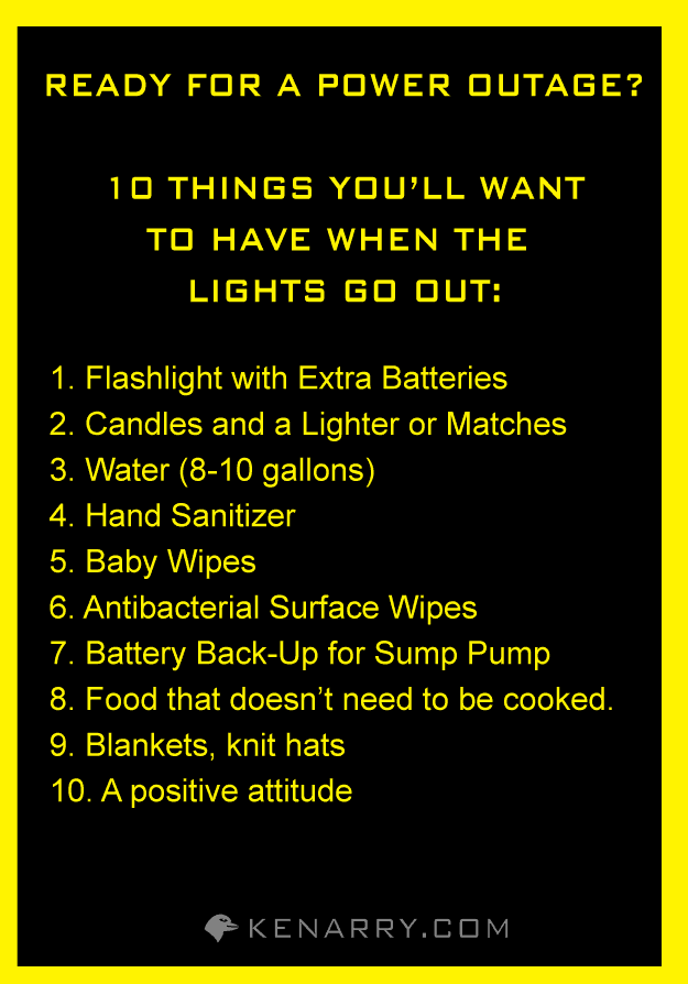 Ready for a Power Outage? 10 Things You'll Want to Have When the Lights Go Out