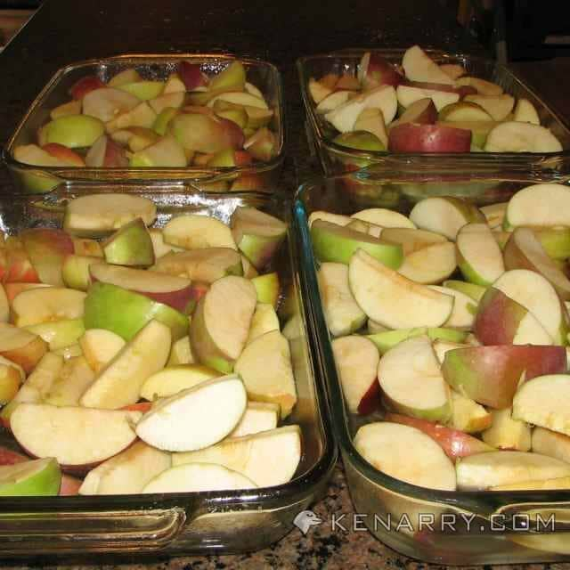 Apples in Baking Dish