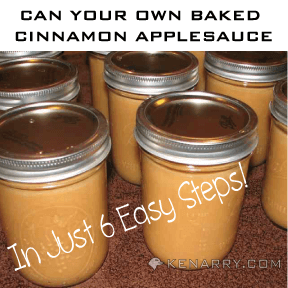 Can Your Own Baked Cinnamon Applesauce in Six Easy Steps - Kenarry.com