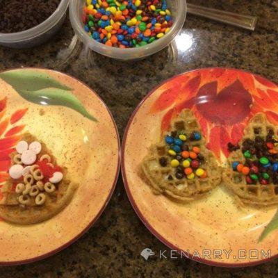 Christmas Tree Waffles - Kenarry.com
