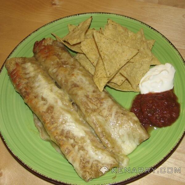 Easy Chicken Verde Enchiladas - Kenarry.com