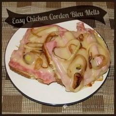 Easy Chicken Cordon Bleu Melts - Kenarry.com