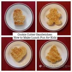 Use these four ideas to make cookie cutter sandwiches and quickly turn boring old peanut butter and jelly sandwiches into a fun lunch for your children. - Kenarry.com