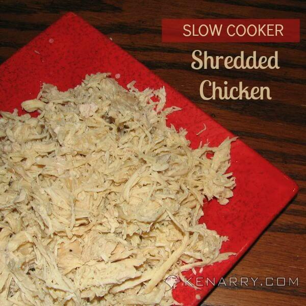 Easy Shredded Chicken in a Crockpot