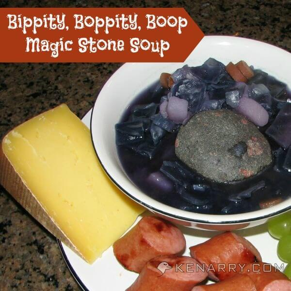 Magic Stone Soup is surprisingly tasty, purple and fun to make, a great dinner for Halloween, a homeschool lesson on purple or for anyone who likes cabbage. - Kenarry.com