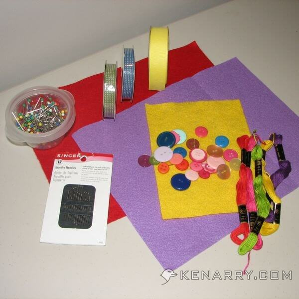 DIY Felt Birthday Banner - Kenarry.com