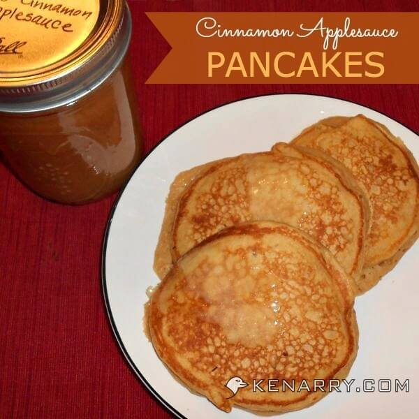 Cinnamon Applesauce Pancakes: A Whole Wheat Breakfast Treat - Kenarry.com