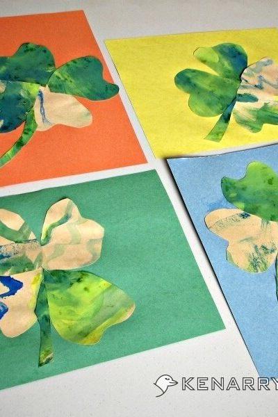 St. Patrick's Day Shamrocks: An Easy Craft for Small Children - Kenarry.com