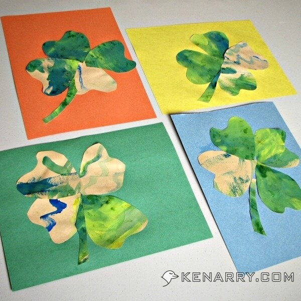 St. Patrick's Day Shamrock Craft for Toddlers and Kids