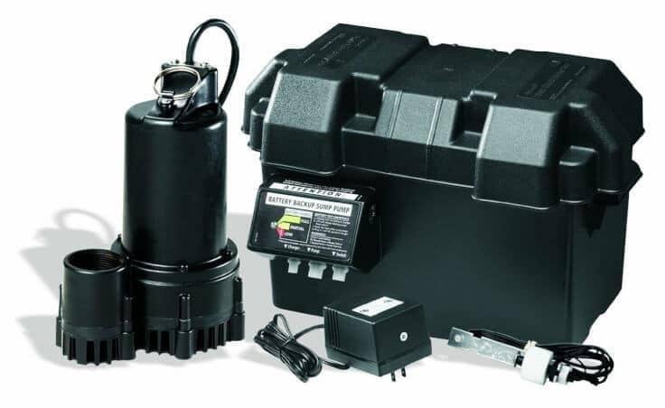 Wayne ESP25 12-Volt 3300 Gallons Per Hour Battery Back Up Sump Pump System - Kenarry.com