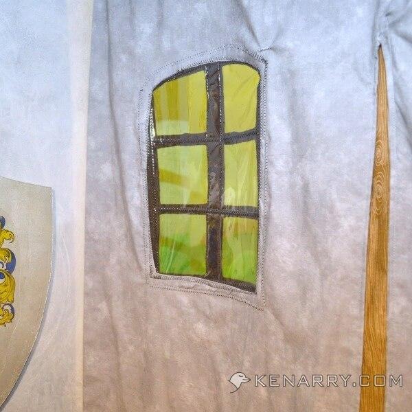 castle playroom curtain an entrance