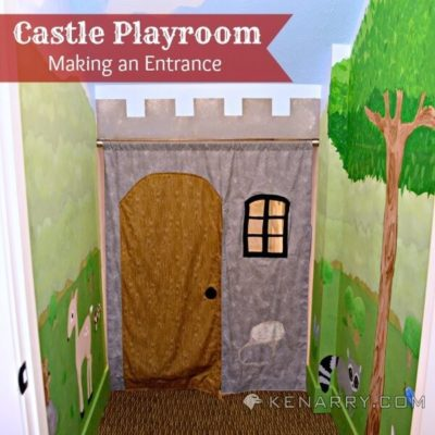 Castle Playroom Curtain: Using Fabric for the Front of the Castle - Kenarry.com