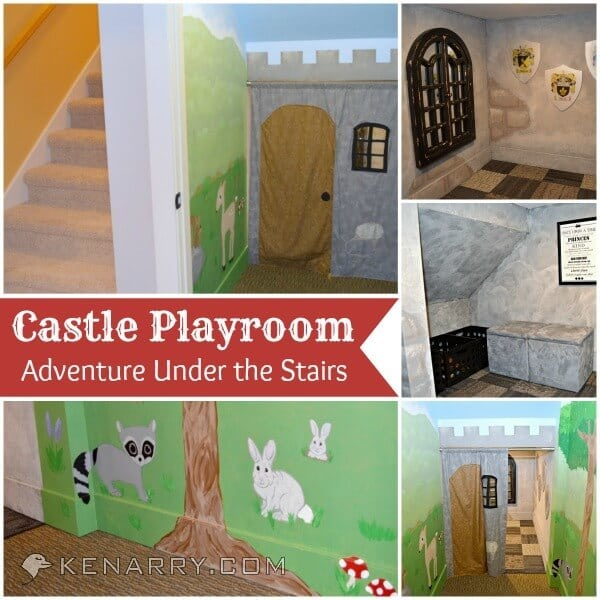 Castle Playroom Under the Stairs: The Adventure Begins