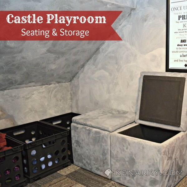 Castle Playroom Seating and Storage: A Place for Everything