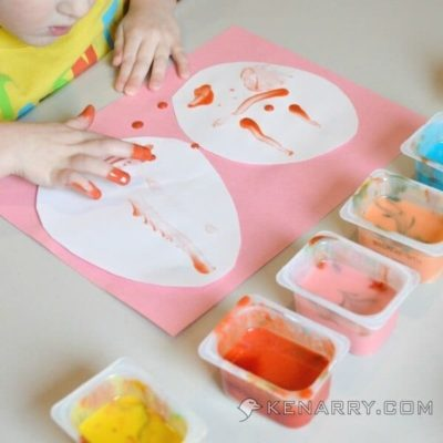 Easter Egg Finger Painting Craft for Kids and Toddlers - Kenarry.com