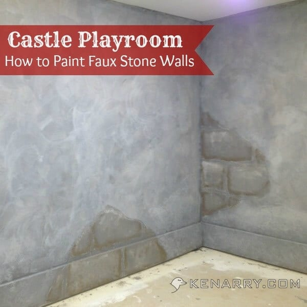 Castle Playroom Walls: How to Paint Faux Stone Walls