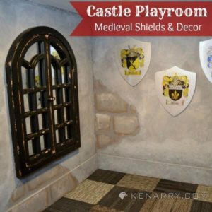 Castle Playroom Shields and Decor: Setting a Medieval Scene - Kenarry.com