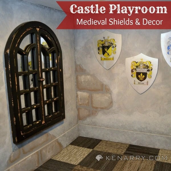 Castle Playroom Shields and Decor: Setting a Medieval Scene