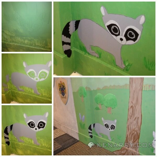 Castle Playroom Woodland Mural: How to Paint Animals and Trees - Kenarry.com