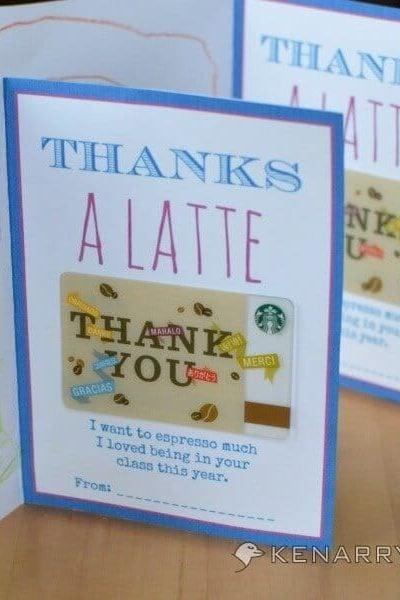 Printable Teacher Appreciation Card for the End of School - Kenarry.com
