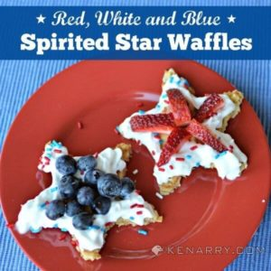 Spirited Star Waffles: An Easy Red, White and Blue Breakfast - Kenarry.com