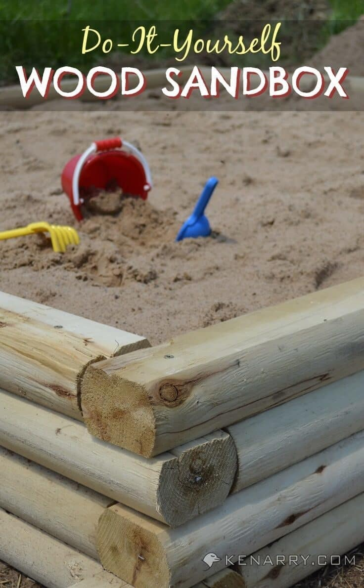 DIY Wood Sandbox