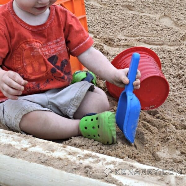 DIY Wood Sandbox Tutorial for Backyard