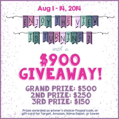 Enjoy the View is Turning Two: $900 Giveaway to Celebrate