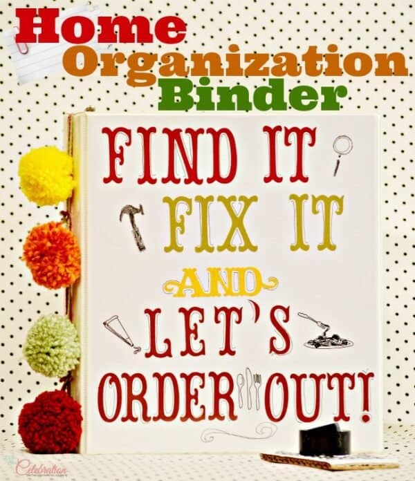 Home Organization Binder - Little Miss Celebration in the Summer Spotlight on Kenarry.com