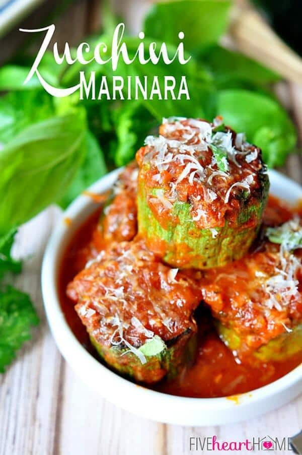 Zucchini Marinara by Five Heart Home - Zucchini Recipes on Kenarry.com