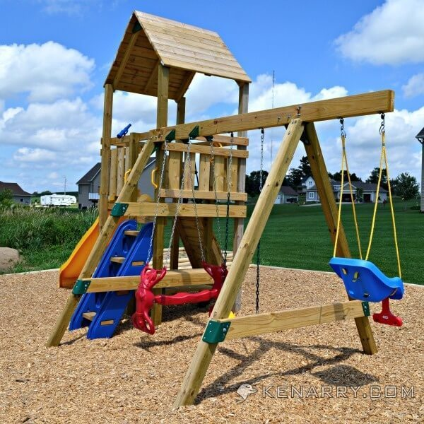 Diy backyard playground how to create a park for kids for Diy play structure