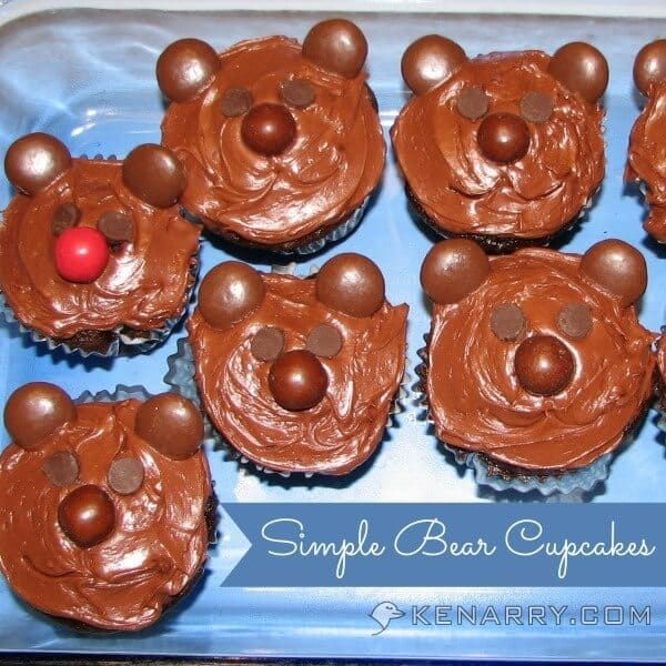 Simple Bear Cupcakes - Kenarry.com