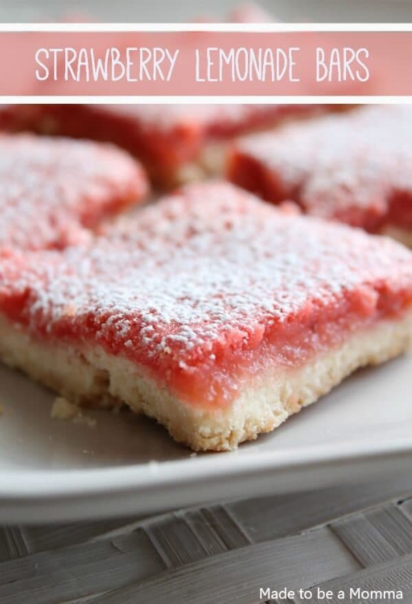 Strawberry Lemonade Bars from Made to Be a Momma