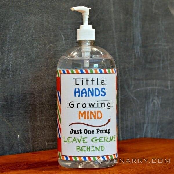 Free Hand Sanitizer Printable Label