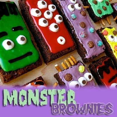 Monster Brownie's - Amanda's Cookin' - Halloween Fun Food Ideas on Kenarry.com