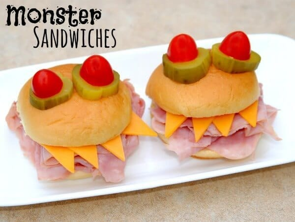 Monster Sandwiches - Happy Go Lucky - Halloween Fun Food Ideas on Kenarry.com