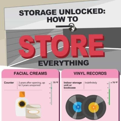 Home Storage Tips: 7 Ways to Find a Place for Everything - Infographic from Next Door Storage