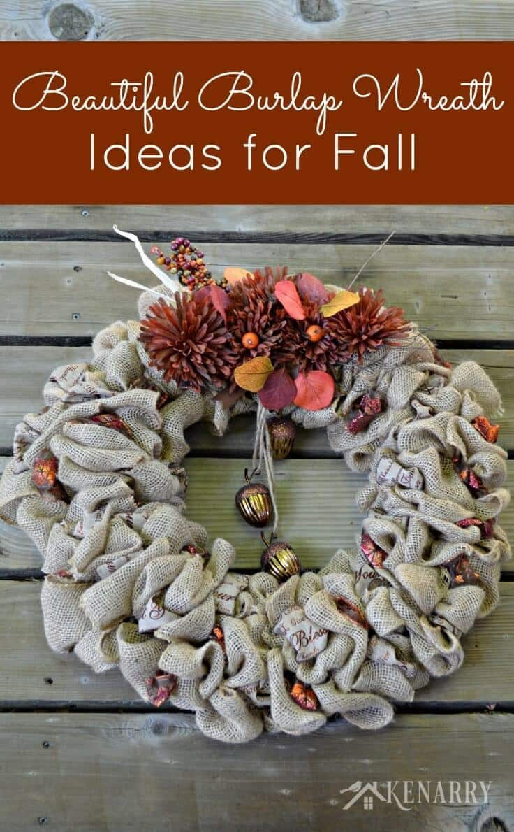 Fall Burlap Wreaths: 3 Beautiful DIY Craft Ideas - Ideas for the Home by Kenarry®