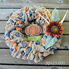 Fall Burlap Wreaths: 3 Beautiful DIY Craft Ideas