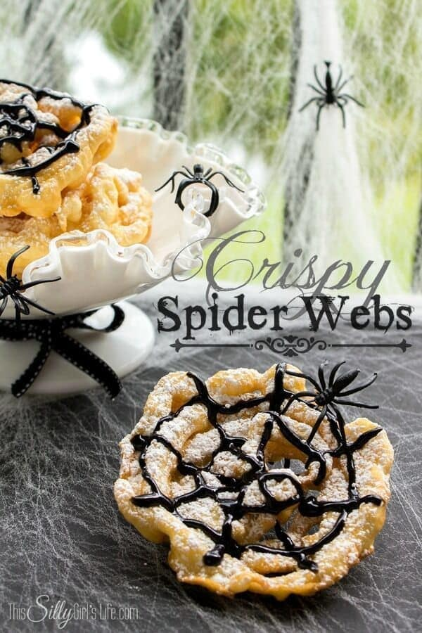 Crispy Spider Webs - This Silly Girl's Life - Halloween Fun Food Ideas on Kenarry.com