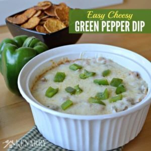 Green Pepper Dip: An Easy Cheesy Appetizer