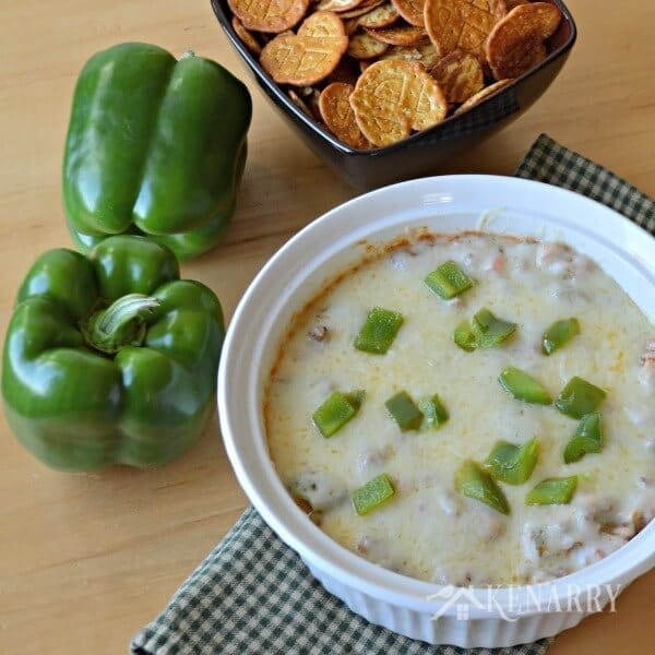 Green Pepper Dip: An Easy Cheesy Appetizer