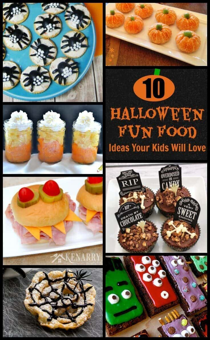 10 Halloween Fun Food Ideas -- My kids will love these!
