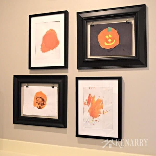 Preschool Pumpkin Painting: Halloween Jack O'Lanterns