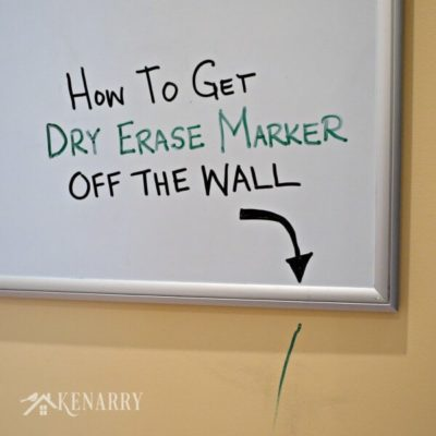 MUST PIN! I know I'm going to need an easy way to get dry erase marker off walls sooner or later!