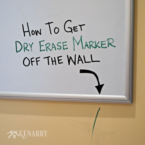 MUST PIN! Dry Erase Marker Removal - I know I'm going to need an easy way to get dry erase marker off walls sooner or later!