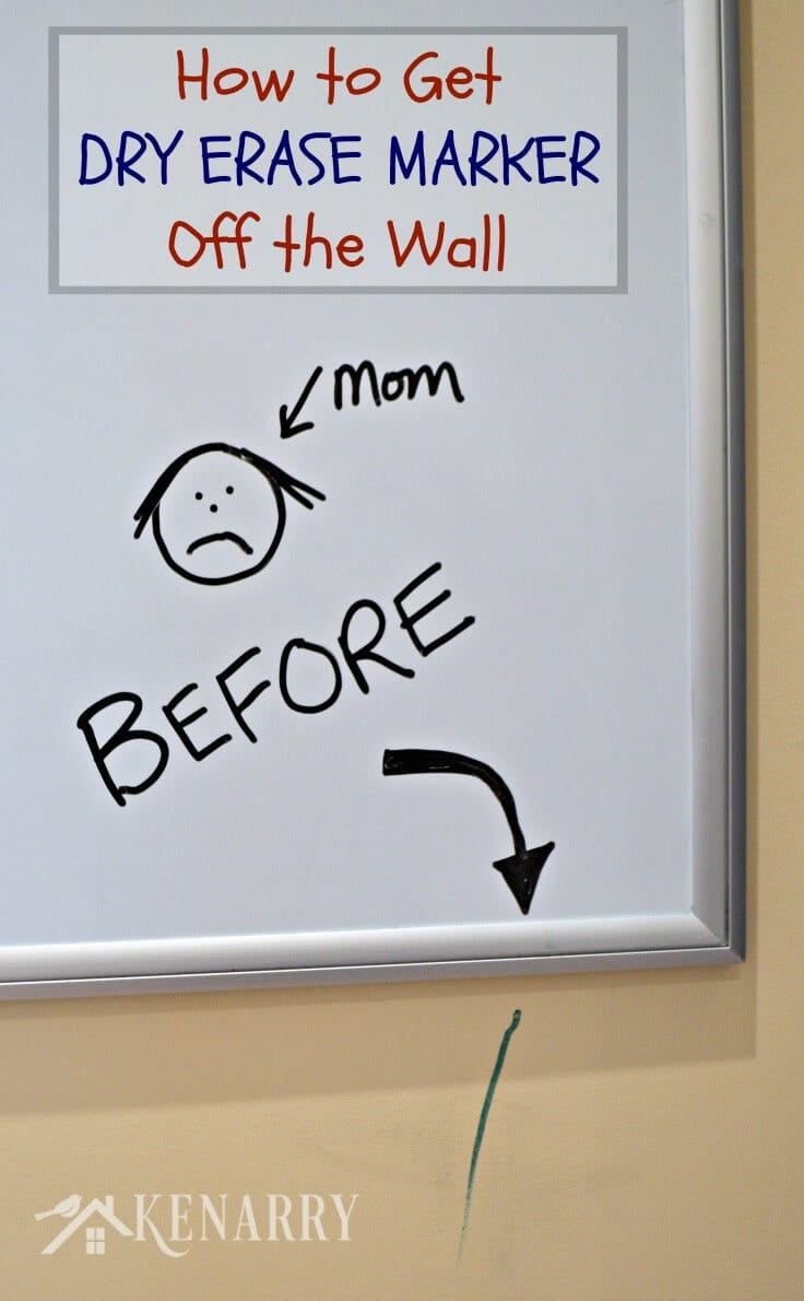 MUST PIN! I Dry Erase Marker Removal - know I'm going to need an easy way to get dry erase marker off walls sooner or later!