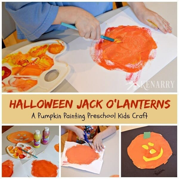 Halloween Jack O Lantern Craft For Kids And Toddlers