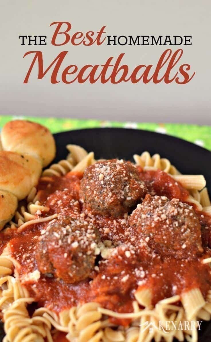 Yum! Learn how to make meatballs. This is the best homemade meatball recipe ever.