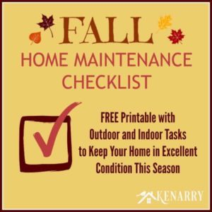 Fall Home Maintenance Checklist: Free Printable